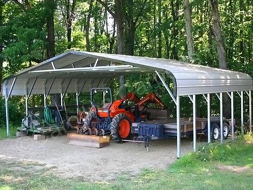 30' x 30' x 6' Regular Roof Triple Wide Carport