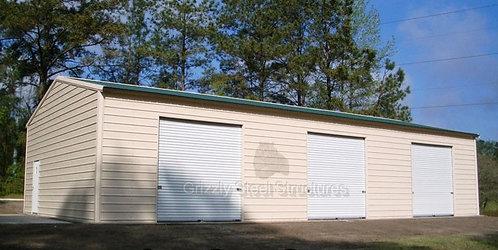 30' x 60' x 12' Vertical Roof Garage