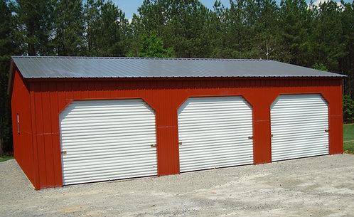 30' x 41' x 10' All-Vertical Enclosed Workshop