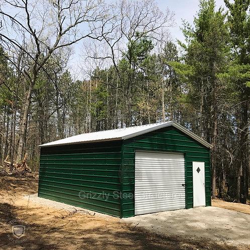 18' x 41' x 10' Vertical Roof Garage