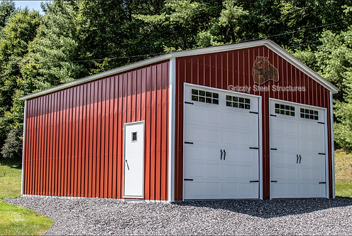 26' x 40' x 12' All-Vertical Roof Garage