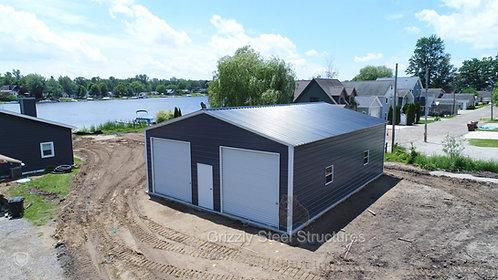 30' x 51' x 12' Vertical Roof Garage