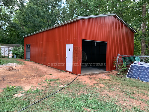 24' x 60' x 13' All-Vertical Roof Garage