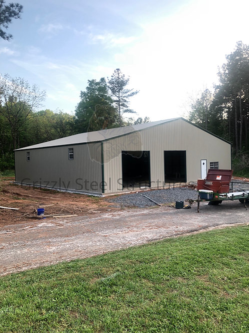 60' x 60' x 12' Commercial Clear Span Building