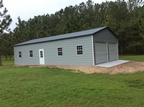 24' x 60' x 12' Vertical Roof Garage