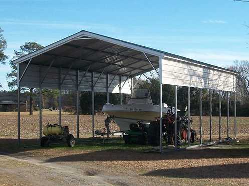 20' x 35' x 12' Vertical Roof RV Cover