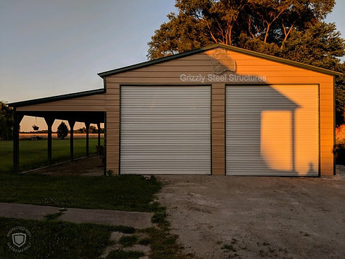26' W X 46' L X 12'H VERTICAL GARAGE WITH LEAN-TO