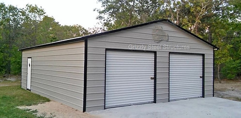 30' x 31' x 10' Vertical Roof Garage
