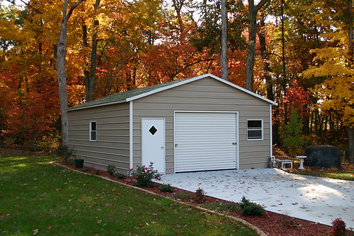 20' x 21' x 9' Boxed Eave One Car Garage