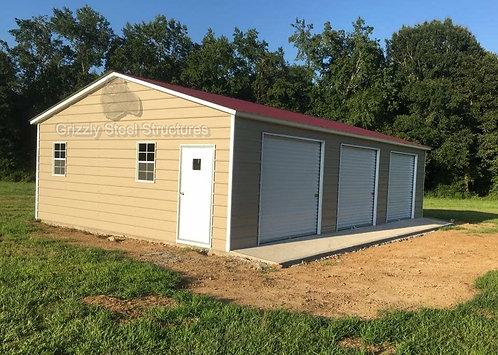 28' x 40' x 9' Vertical Roof Garage