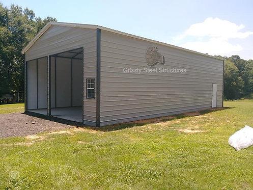 24' x 50' x 10' Vertical Roof Garage