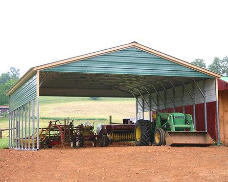 28' x 45' x 11' Vertical Triple-Wide Carport
