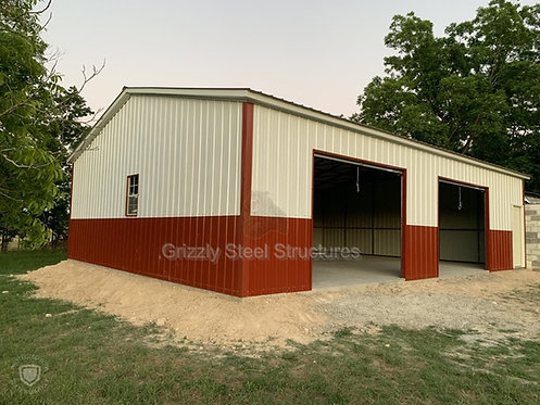 30' W x 41'L x 12'H Vertical Roof Garage