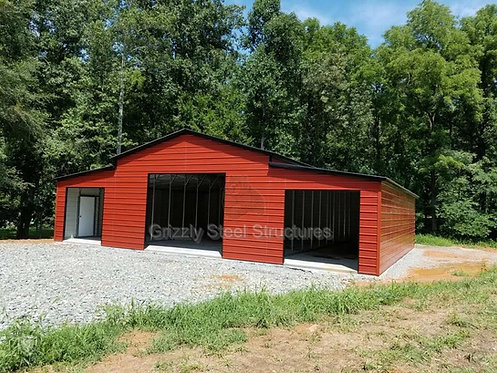 50' W x 41'L x 12'H VERTICAL ROOF STEP-DOWN BARN