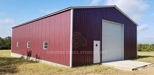 40' x 60' x 14' All-Vertical Clear Span Garage