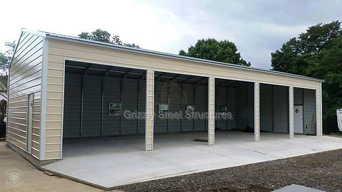 24' x 61' x 10' Vertical Roof Garage