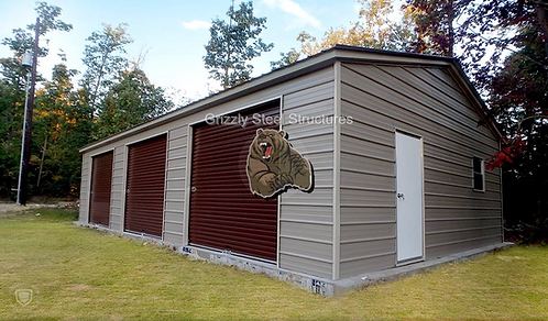 24' x 40' x 9' Vertical Roof Garage