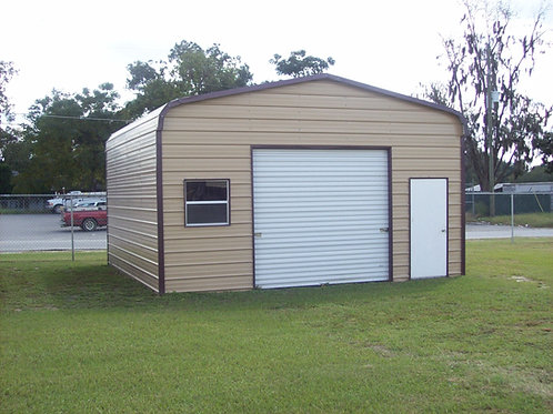 18' x 20' x 8' Regular Roof One Car Garage