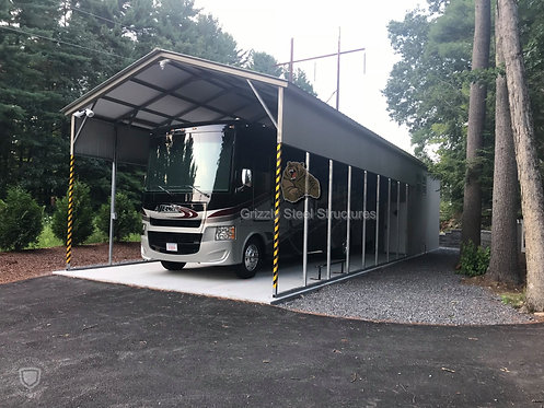 18' x 60' x 14' Vertical Roof RV Cover W/Storage