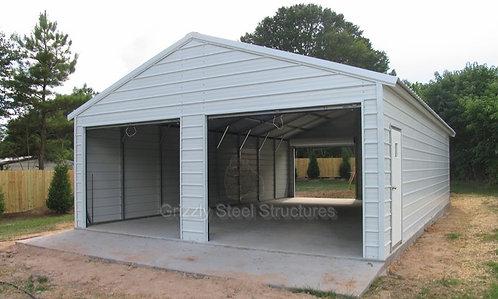 24' x 40' x 9' Vertical Drive-Thru Garage