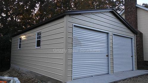 18' x 30' x 9' Vertical Roof Garage