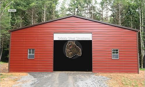 30' x 75' x 14' Vertical Roof Garage