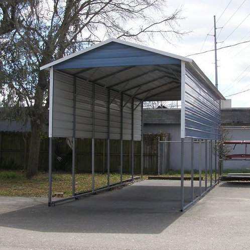12' x 30' x 12' Boxed Eave RV Cover