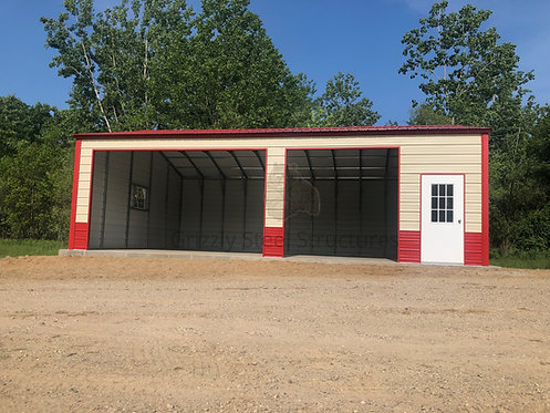 24' x 36' x 11' Vertical Two Tone Garage