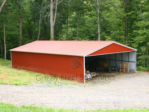 30' x 50' x 10' All-Vertical Carport