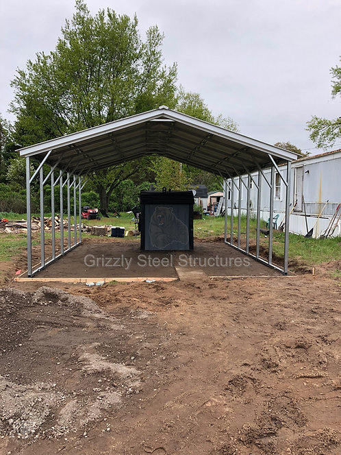 18' x 30' x 7' Vertical Roof Carport