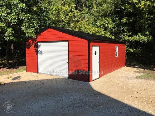 18' W x 30'L x 8'H Boxed Eave Garage