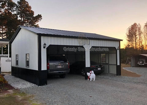 22' x 31' x 9' Vertical Roof Garage