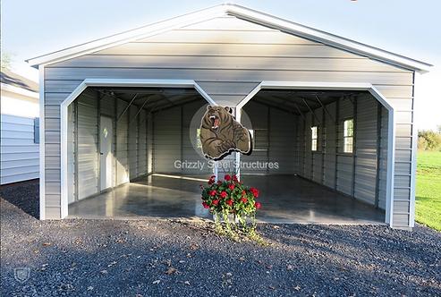 24' x 35' x 9' Vertical Roof Garage