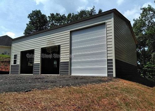 30' x 50' x 14' Vertical Roof Garage