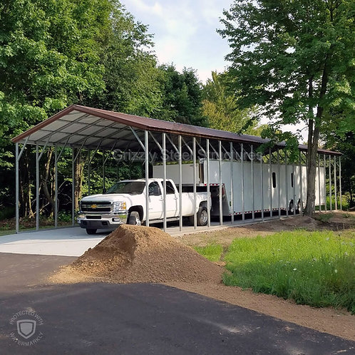 20' x 65' x 12' Vertical Roof RV Cover
