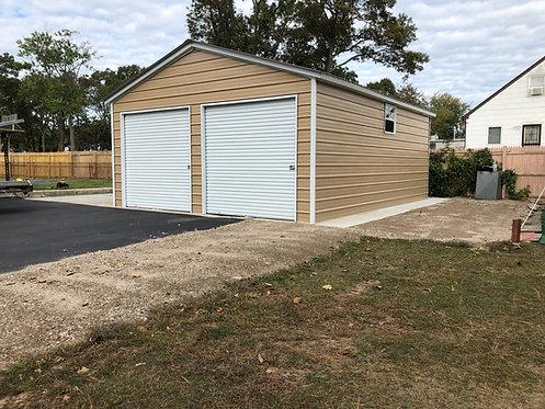 24' x 36' x 9' Vertical Roof Garage