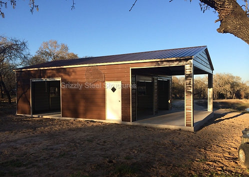 24' x 40' x 10' Vertical Roof Garage