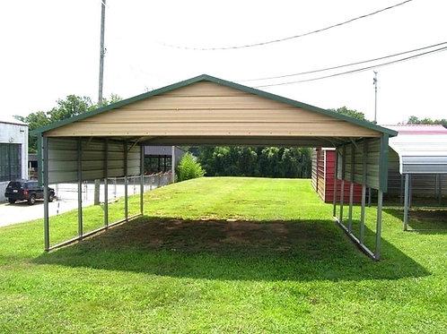 20' x 20' x 7' A-Frame Horizontal Roof Carport