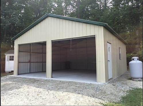 30' x 25' x 10' All-Vertical Roof Garage