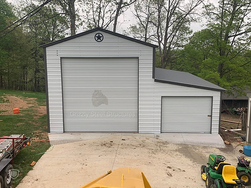30' W X 35' L X 14'H VERTICAL GARAGE WITH SIDE STORAGE