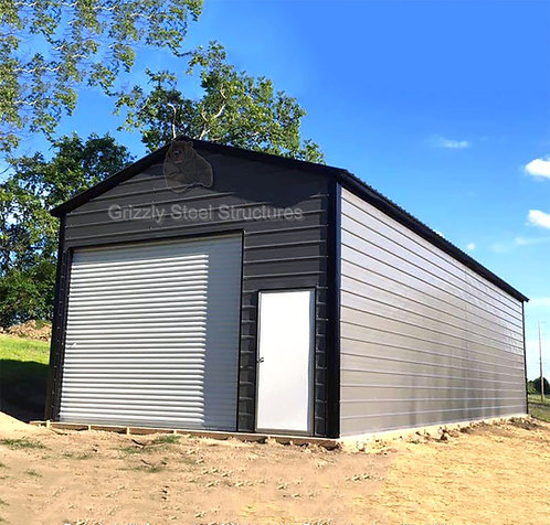 18' x 50' x 12' Vertical Roof Garage