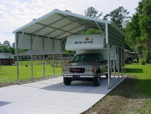 18' x 20' x 10' Vertical Roof Carport