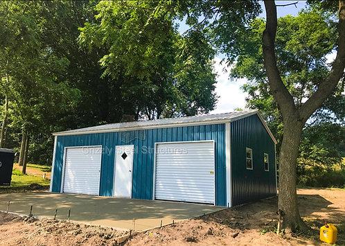 24' x 31' x 9' All-Vertical Roof Garage