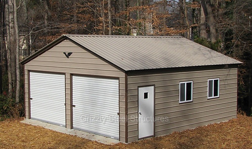24' x 31' x 9' Vertical Roof Garage