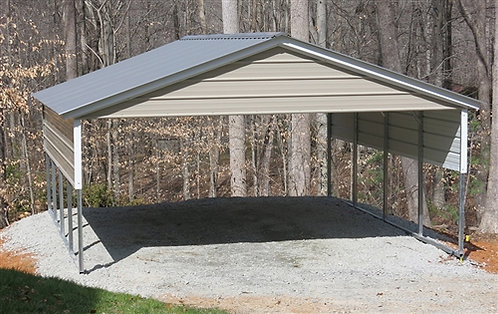 20' x 20' x 7' Two-Car Vertical Roof Carport