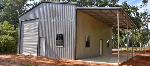 26' W X 35' L X 14'H VERTICAL GARAGE WITH LEAN-TO