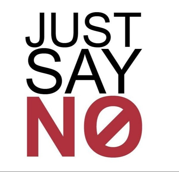 Just say no red no with an x thru the o