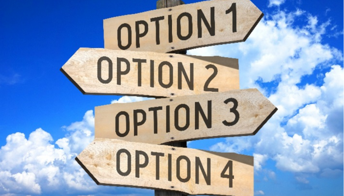 Sign with multiple options