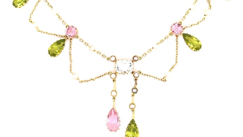 14K Multi-Stone Necklace