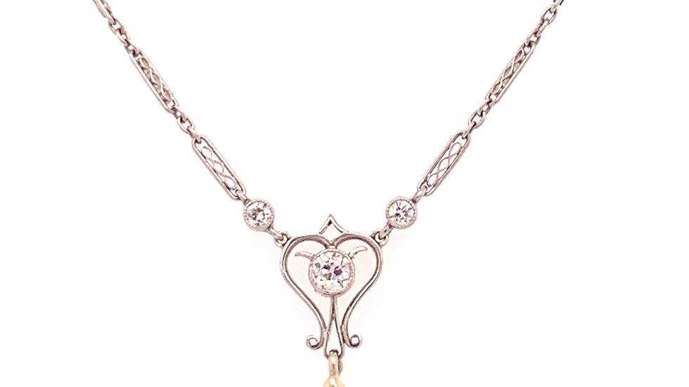 Victorian Platinum Pear Diamond